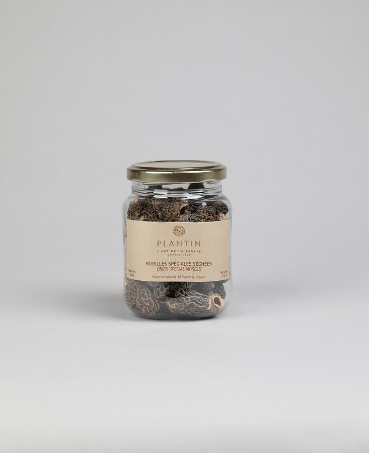 Morilles séchées sans queue