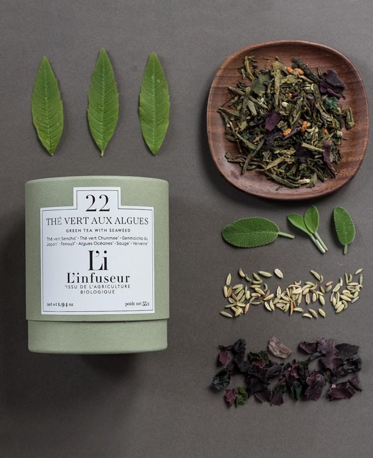 Thés vert aux algues vrac