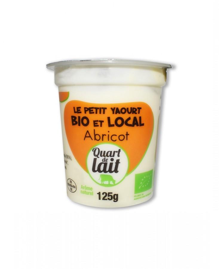 Yaourt bio local abricot