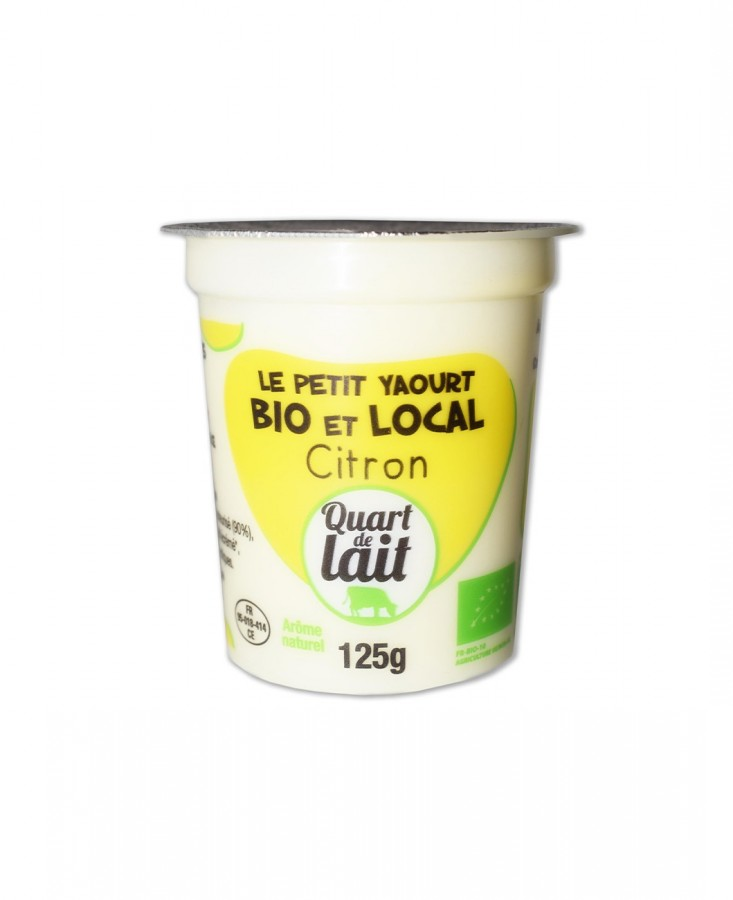 Yaourt bio local citron